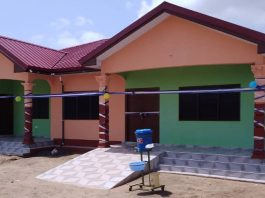 Newly built Community-Base Health Planning Services (CHPS) compound at Dalive-Torzikpota