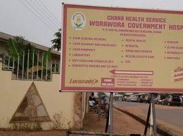 Worawora Government Hospital signpost
